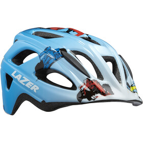 Lazer P'Nut Helmet with Insect Net Kids, blue racer boy